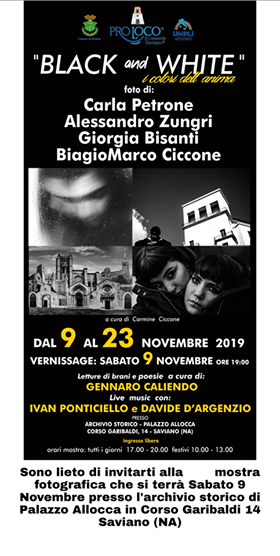 "A Saviano mostra fotografica  ""Black and White – I colori dell'Anima"""